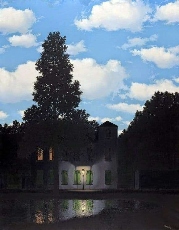 Description of the painting by René Magritte Empire of Light