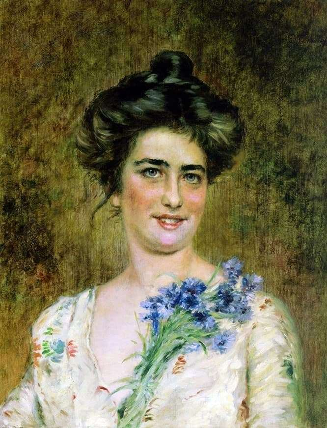 Description of the painting by Konstantin Makovsky Womans Portrait