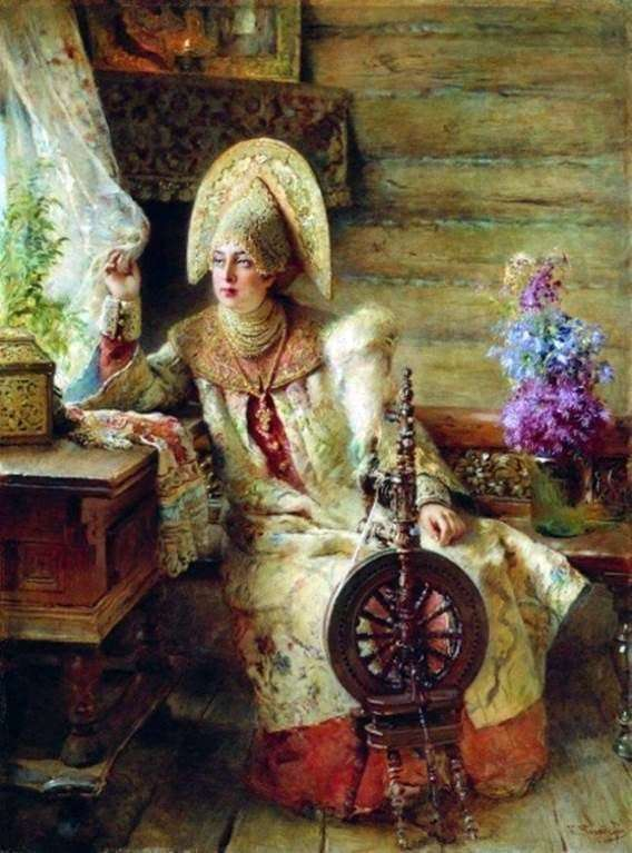 Description of the painting by Konstantin Makovsky Boyarh at the window