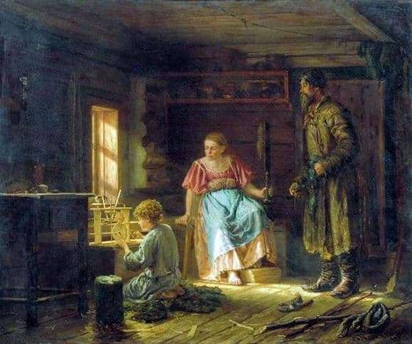 Description of the painting by Vasily Maximov Mechanical Boy