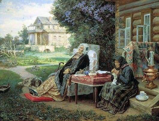 Description of the painting by Vasily Maximov Everything is in the past