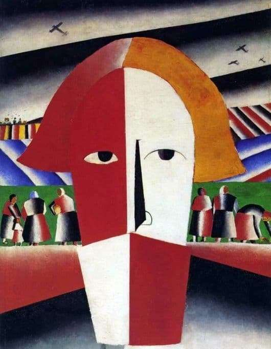 Description of the painting by Kazimir Malevich The head of a peasant