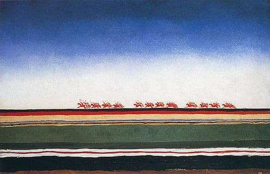 Description of the painting by Kazimir Malevich Red Cavalry