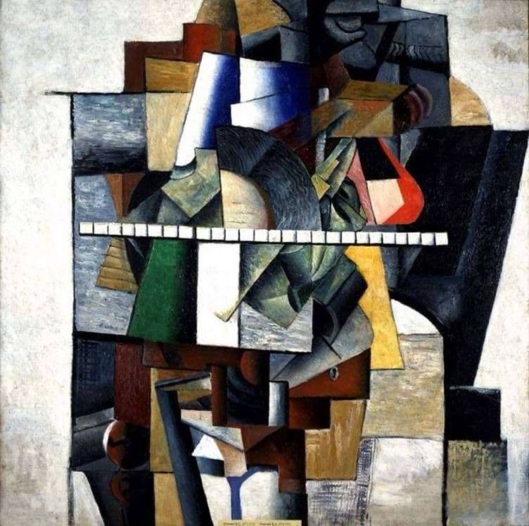 Description of the painting by Kazimir Malevich Portrait of Matyushin