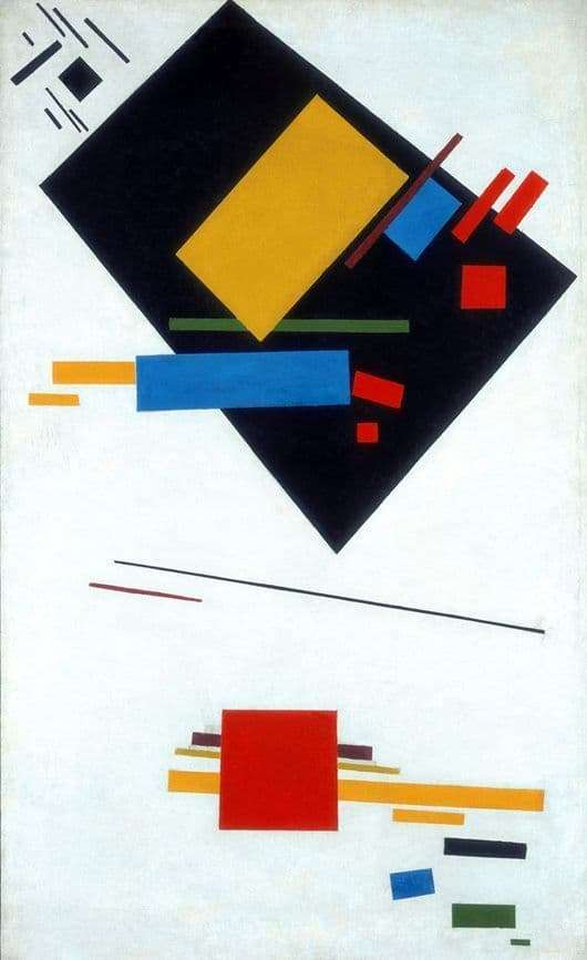 Description of the painting by Kazimir Malevich Suprematism