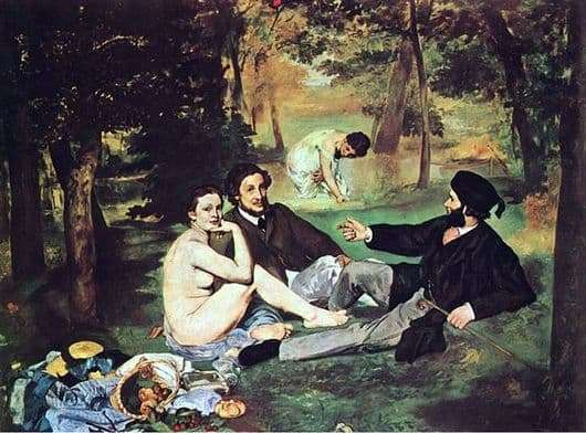 Description of the painting by Edward Manet Breakfast on the grass
