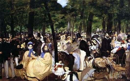 Description of the painting by Edward Manet Music in the Tuileries