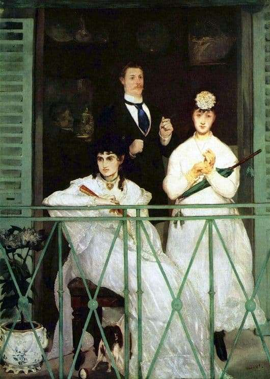 Description of the painting by Edward Manet Balcony
