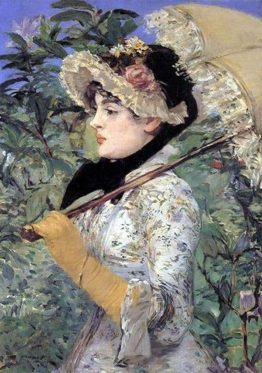 Description of the painting by Edward Manet Jeanne (Spring)