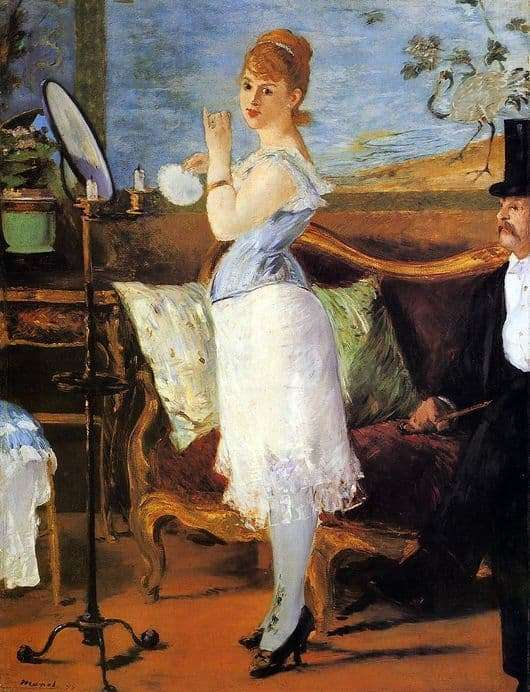 Description of the painting by Edward Manet Nana