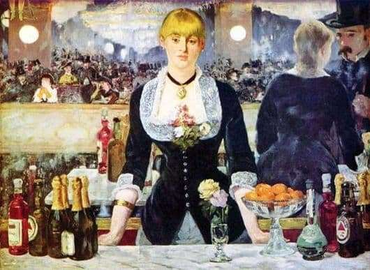 Description of the painting by Edward Manet Bar in Foley   Bergere