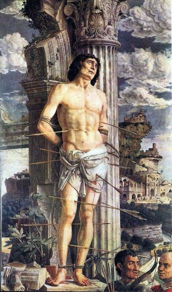 Description of the painting by paintings by Andrea Mantegna St. Sebastian