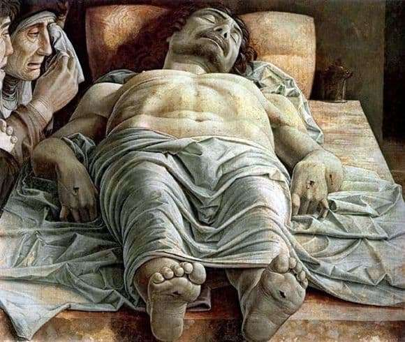 Description of the painting by Andrea Mantegna Dead Christ