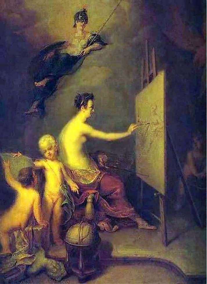 Description of the painting by Andrei Matveyev Allegory of Painting