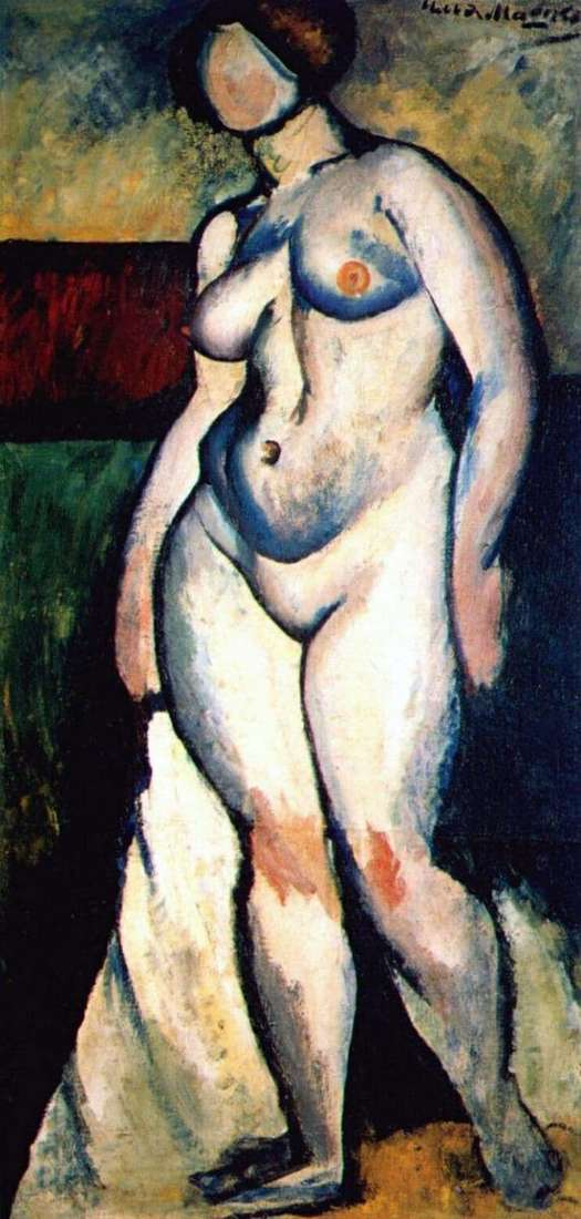 Description of the painting by Ilya Mashkov Nude