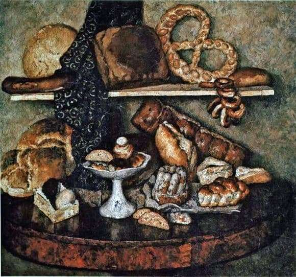 Description of the painting by Ilya Mashkov Moscows Snack of Bread