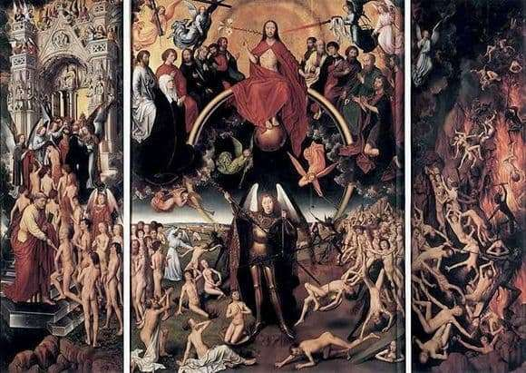 Description of the painting by the triptych by Hans Memling Last Judgment