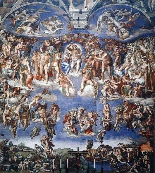Description of the painting by Michelangelo The Last Judgment