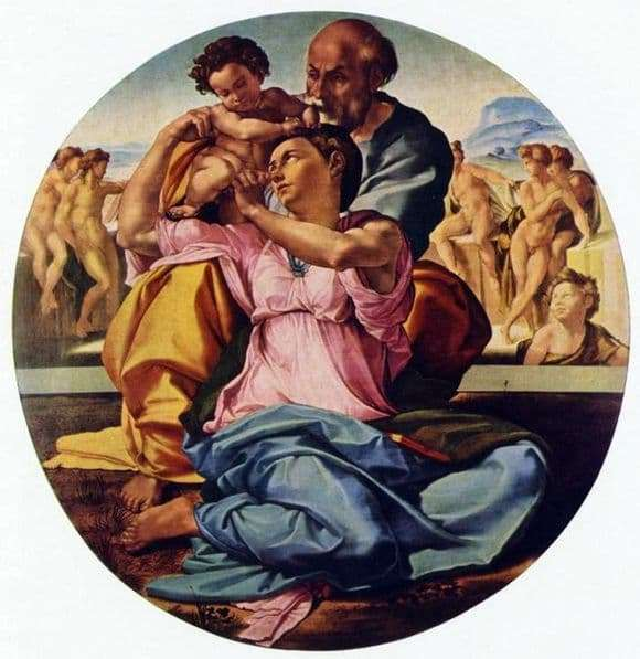 Description of the painting by Michelangelo Buanarroti Madonna Doni