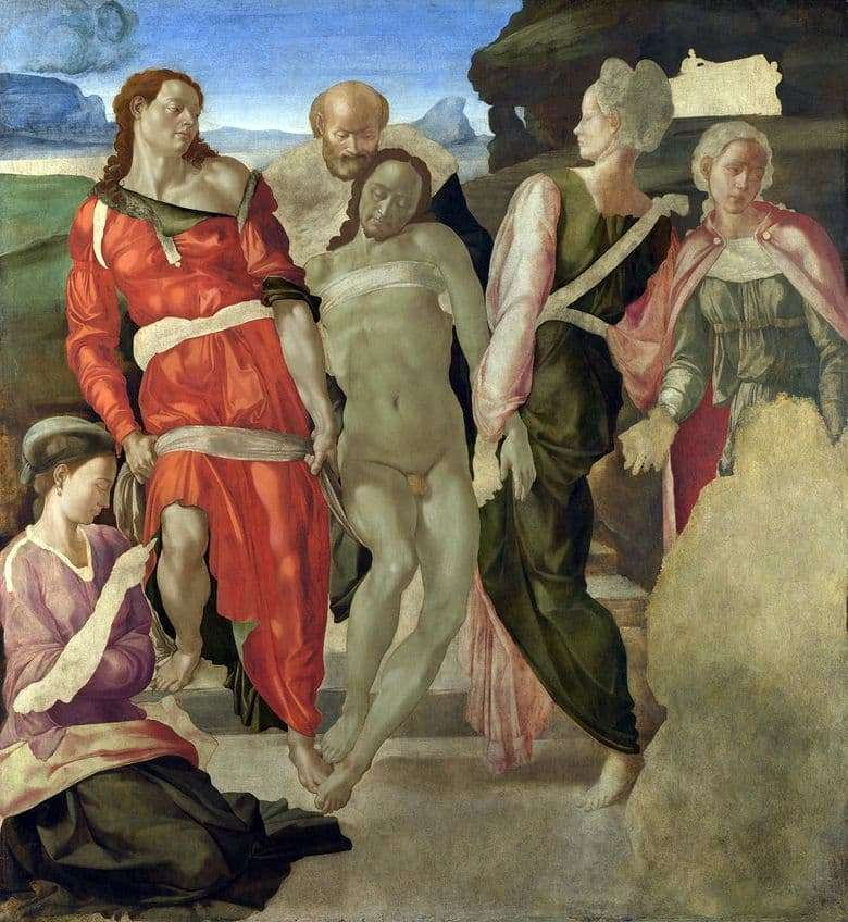 Description of the painting by Michelangelo The Descent from the Cross