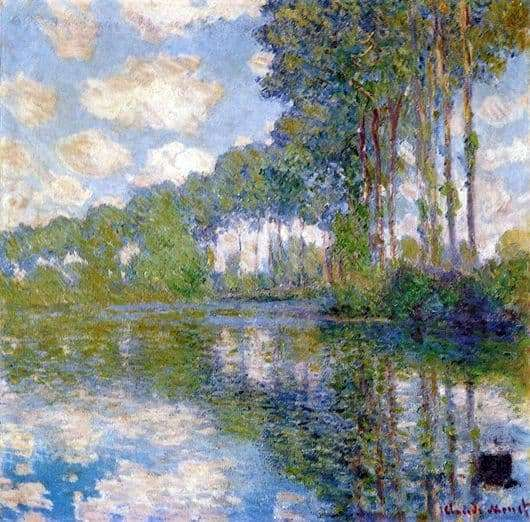 Description of the painting by Claude Monet Topol