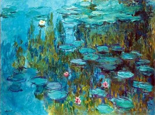 Description of the painting by Claude Monet Water Lilies