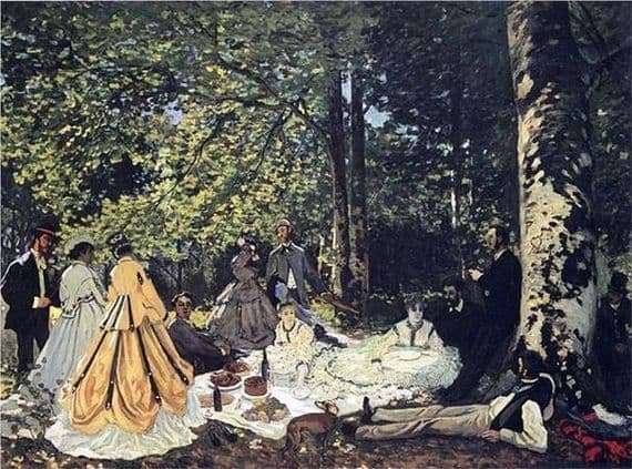 Description of the painting by Claude Monet Breakfast on the grass