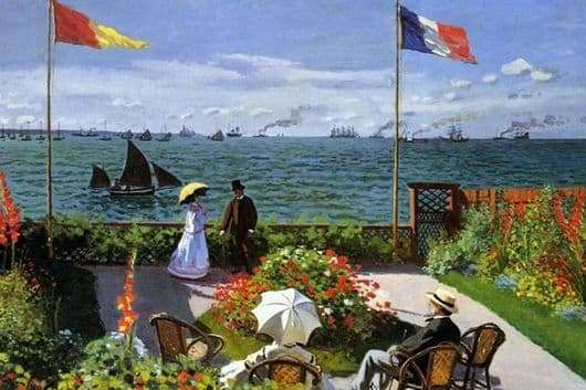 Description of the painting by Claude Monet Terrace in Sainte Adress