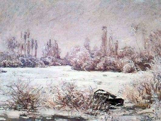 Description of the painting by Claude Monet Frost