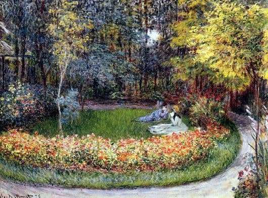 Description of the painting by Claude Monet In the garden