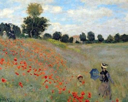 Description of the painting by Claude Monet Maki (At Argenteuil)