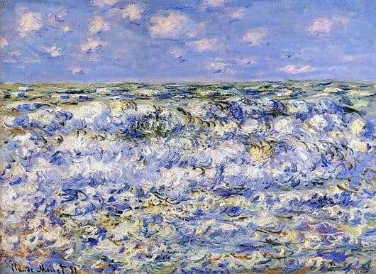 Description of the painting by Claude Monet Waves
