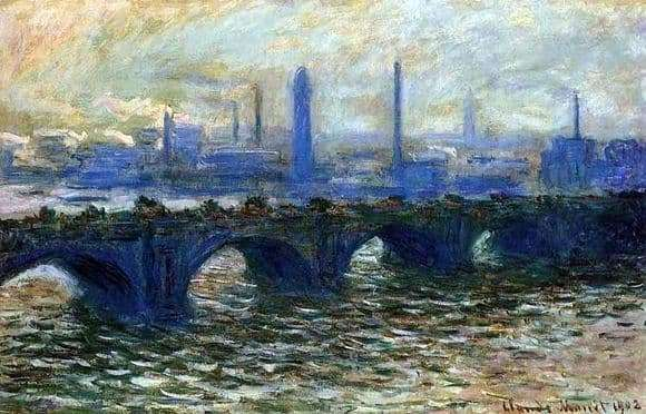 Description of the painting by Claude Monet Waterloo Bridge