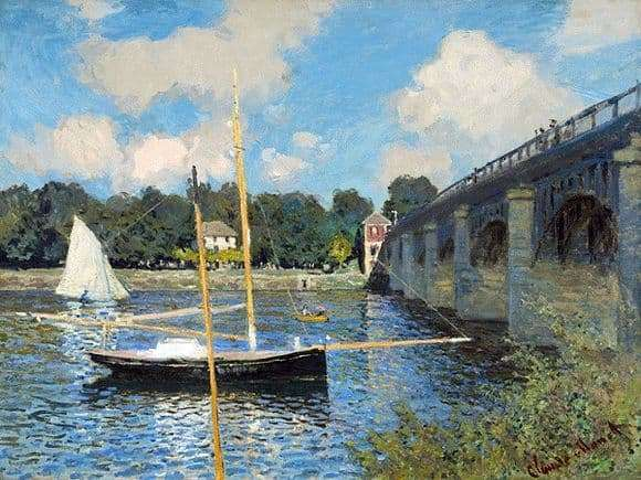 Description of the painting by Claude Monet Bridge in Arzhantey