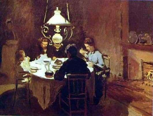 Description of the painting by Claude Monet Lunch