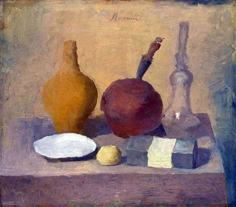 Description of the painting by Giorgio Morandi Still Life