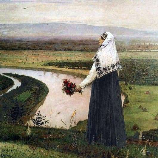 Description of the painting by Mikhail Nesterov On the mountains