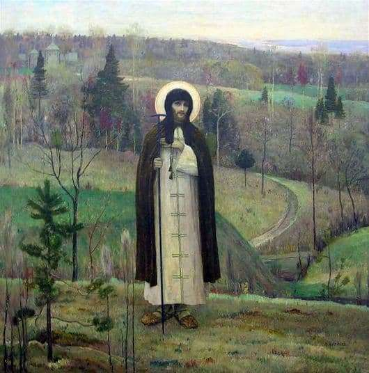 Description of the painting by Mikhail Nesterov St. Sergius of Radonezh