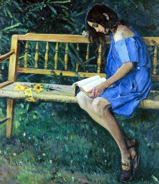 Description of the painting by Mikhail Nesterov Natasha on the garden bench