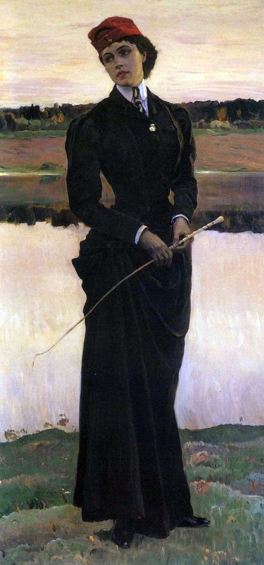 Description of the painting by Mikhail Nesterov Portrait of the daughter of O. M. Nesterova