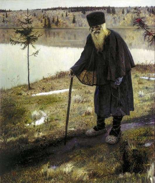 Description of the painting by Mikhail Nesterov The Hermit