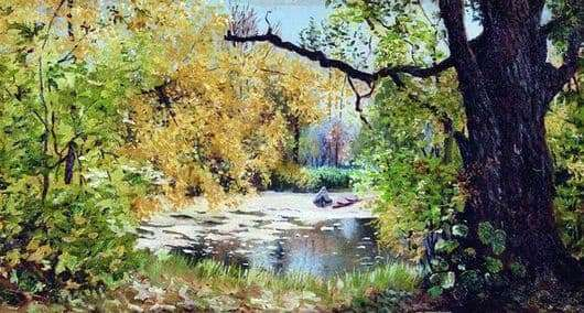 Description of the painting by Ilya Ostroukhov Autumn Landscape