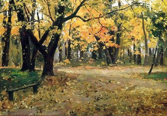 Description of the painting by Ilya Ostroukhov In the Abramtsevo Park