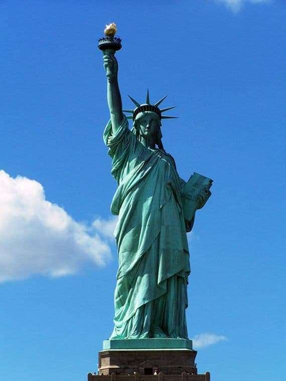 Description of the Statue of Liberty in New York